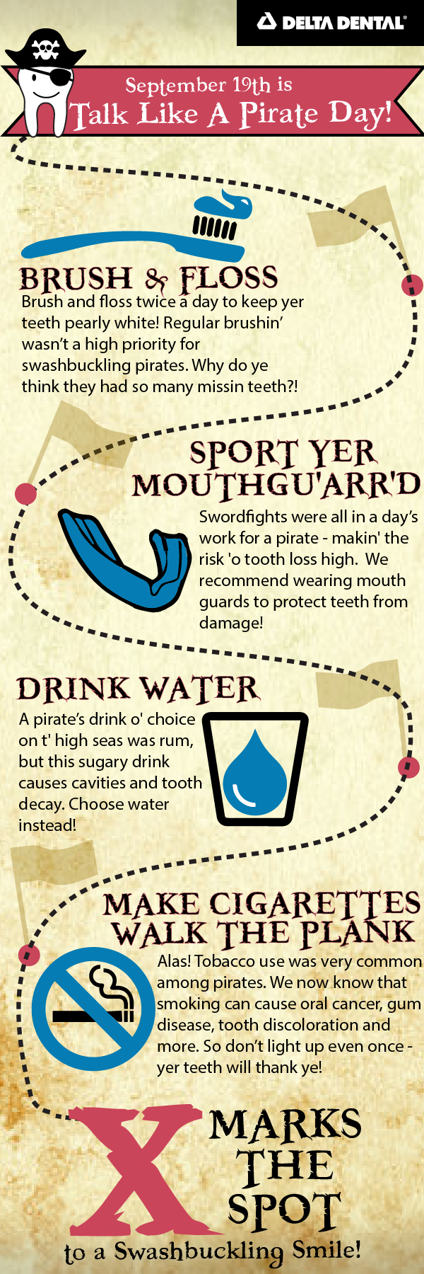 Talk Like a Pirate; Don't Treat Your Teeth Like One! [INFOGRAPHIC]