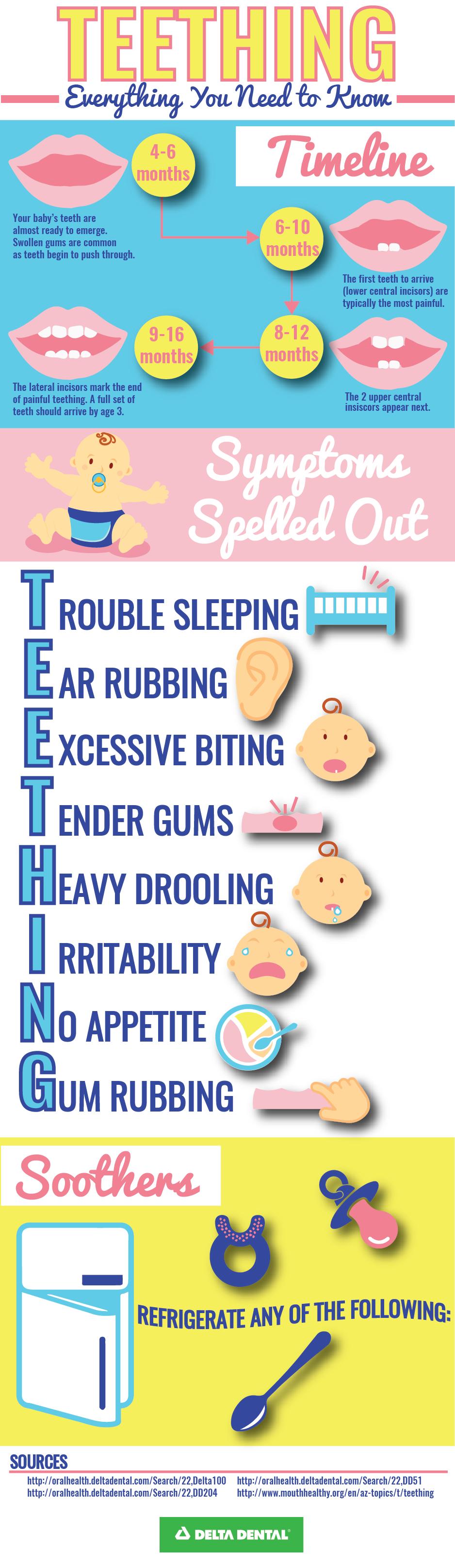 Typical Teething Timeline