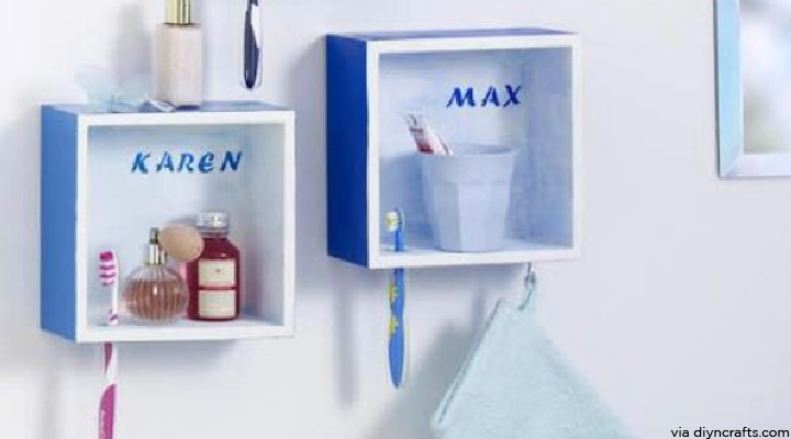 Tiny Tips 3.Personalized Wall Cubes