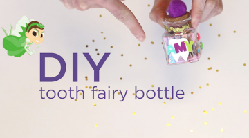 Have your child make their own tooth holder for their next visit from the Tooth Fairy!