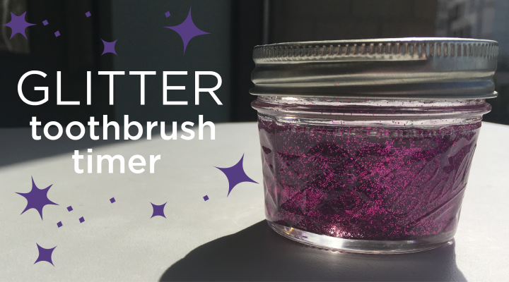 DIY: Glittery Toothbrush Timer for Kids