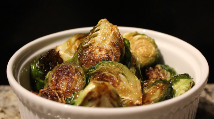 Crispy Brussel sprouts with honey.