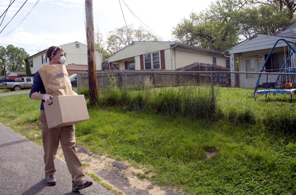 CHIP delivering supplies to local families