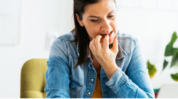 Biting your fingernails can harm your mouth